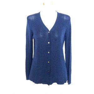 Cynthia Steffe Womens Cardigan Sweater Sheer L